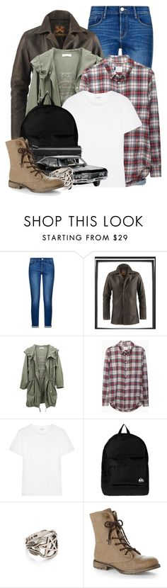 """""""Dean Winchester"""" by cinna78 ❤ liked on Polyvore featuring Frame Denim, Band of Outsiders, Yves Saint Laurent, Quiksilver, Pamela Love, Dirty Laundry, women's clothing, women, female and woman"""