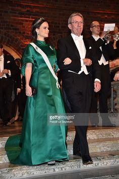 orderofsplednor:   Nobel Prize Ceremony, Stockholm, Sweden, December 10, 2016-Princess Sofia and Professor Jean-Pierre Sauvage, laureate of the Nobel Prize in Chemistry; Sofia wore a bespoke gown by House of Dagmar along with the smaller cut steel tiara belonging to the Swedish Royal Family