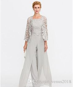 63d8944658 2019 Newest Gray Mother Of The Bride Dresses Two Pieces Lace Jackets  Mothers Dresses For Wedding Events Pants Suit Evening Gown BC005 Joan  Rivers On Joan ...