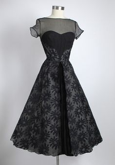 1950s Silk Chiffon I was totally born in the wrong era!! This dress is amazing!!!!