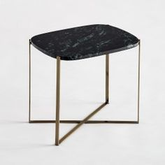 Arambol Rectangular Side Table. with Marble Top AM.PM. - New Arrivals