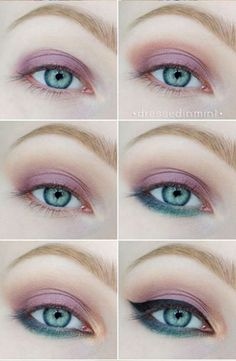 shadow eye make up the most widely used eye makeup, it is one of the best ways to make them stand out. So do not hesitate to experiment to make your eyes look more attractive. So try the below makeup step by step for blue color eyes. Gorgeous Makeup, Love Makeup, Makeup Goals, Beauty Makeup, Eye Makeup Steps, Simple Eye Makeup, Makeup Eyeshadow, Eyeliner, Eyeshadow Palette