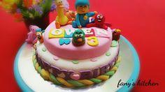 Homemade pocoyo birthday cake. dapurfany.blogspot.com