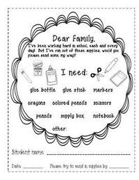 I Need... (cute letter to send home when your students need more supplies) Just circle what they need and send it home!