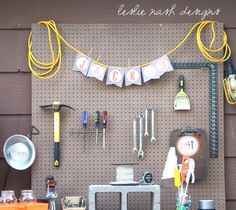 tool party birthday bunting| leslie nash designs