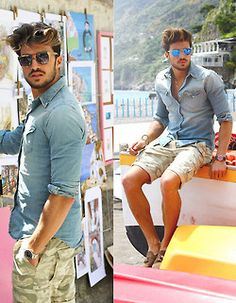 men's fashion & style: on a hot summer day! .