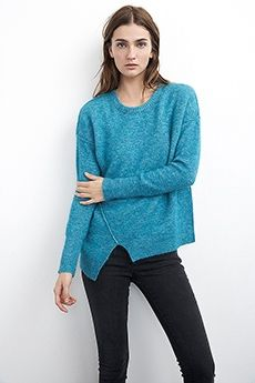 EMYLEE ASYMMETRIC BOUCLE SWEATER