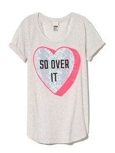 BLING VDAY TEE- $34.50 VS Wear your heart on your tee with this cheeky Valentine's Day tee. Bling graphics and a slouchy fit make it a sparkly standout. Must-have tee...