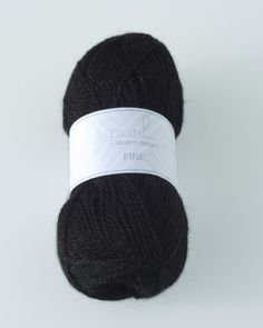 The spectacular Alpaca Night (Natural Black) yarn is available in two thicknesses, Medium and Fine. Available from Purl Alpaca Designs.