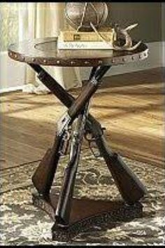 Shot Gun Table Western Decor Country Man Cave Ideas Chic