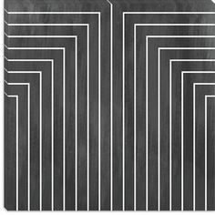 Mid Century Modern Art- Geometric Pattern 90 Canvas Print - iCanvasART.com