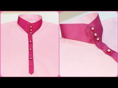 How to sew latest kurta design कुर्ते की डिजाइन Chudi Neck Designs, Neck Designs For Suits, Dress Neck Designs, Collar Designs, Sleeve Designs, Latest Kurta Designs, Mens Kurta Designs, Kurti Sleeves Design, Kurta Neck Design