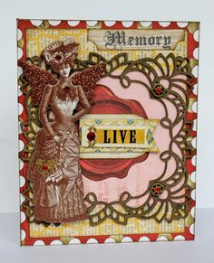 DT card for Imaginarium Designs using some of their chipboard pieces and pretty papers from Bo Bunny
