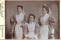 Three Liverpool Nurses c.1890s.