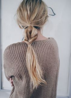 1. Such a cute hair style with some wavy dry textured hair 2. Love this colored hair!