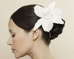 Gathered wedding hairstyle with flowers  #bridesmaid #bridal #wedding #girls #formal #black #dress #dresses #long #fashion #casual #printed #evening #long #short #hot #white #red #shoes #mariage #couture #new #bride #hairstyles #hairstyle #hair #long #short #sexy