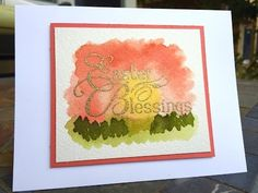 Easter Blessings Handmade Watercolor Card – Paper Into Love - Tutorial video in the post.