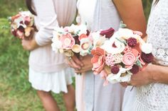 Felt flower bouquets that I am absolutely in love with. So pretty!