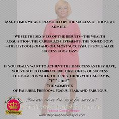 "You are never too sexy for success!!!  Say ""F"" it and keep it stepping!  #fabulousuniversity #theunsexinessofsuccess"