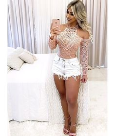 girls DIY curvy jean bikini outfit outfits Hot and sexy shorts Hot Outfits, Summer Outfits, Casual Outfits, Girl Fashion, Fashion Outfits, Womens Fashion, Fashion Clothes, Fashion Fall, Shorts Sexy