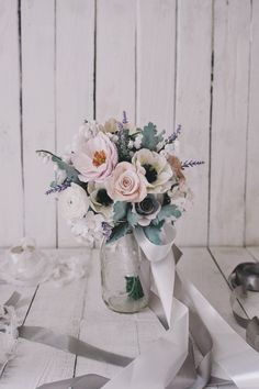 Clay flowers bridal bouquet inspiration | Vendor Of The Week: Keasecret | http://www.bridestory.com/blog/vendor-of-the-week-keasecret