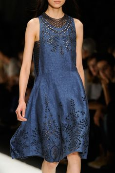 Paris Spring 2013 - Vanessa Bruno (cozy lacy bluejean dress)