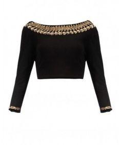 Kmozi Latest Designer Black Sequence Work Blouse Material..  http://www.kmozi.com/designer-blouse/designer-saree-blouse/kmozi-latest-designer-black-sequence-work-blouse-material-411                                                                                                                                                     More