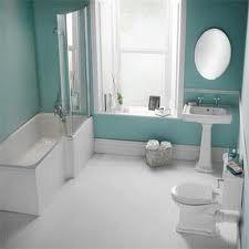 Nice bathroom colours.... Bathroom With Shower And Bath, Bathroom Colours, Amazing Bathrooms, New Homes, Bathtub, Nice, House, Standing Bath, Bathtubs