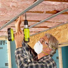 Tips for a Quieter Ceiling - 14 Basement Finishing Tips: http://www.familyhandyman.com/basement/basement-finishing-tips