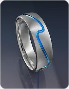 Surf Wave Titanium Ring