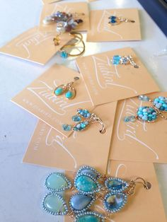 NEW Michelle Pressler jewelry at Ziabird!  Here's a little sneak peek at the collection we're getting ready for our trunk show on July 12th! Mark your calendars! :)