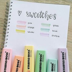 The premium Stabilo highlighter features a new color range that we love and believe that you will too! Enjoy up to 4 hours cup off time with the original Stabilo Anti-Dry Out Technology. Stabilo Pastel Highlighter, Tittle Ideas, School Suplies, Stabilo Boss, Study Organization, Cute School Supplies, School Stationery, School Notes, Study Notes