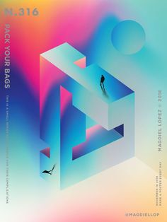 by Magdiel Lopez Graphic Design Trends, Graphic Design Posters, Graphic Design Inspiration, Graphic Art, Magdiel Lopez, 3d Poster, Simple Poster, Geometric Poster, Dashboard Design