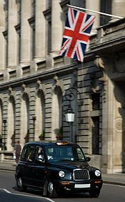 London Black Cab- the drivers have to pass stringent tests on their knowledge of London, so they are nothing like NY cab drivers!
