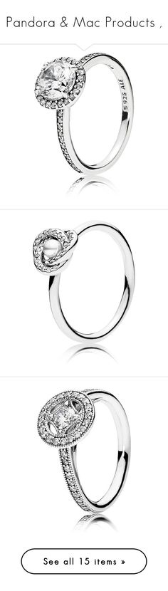 """""""Pandora & Mac Products ,"""" by diamonddolll ❤ liked on Polyvore featuring jewelry, rings, accessories, silver, sterling silver cubic zirconia jewelry, cubic zirconia jewelry, cz jewellery, sterling silver cz jewelry, pandora jewellery and pandora jewelry"""