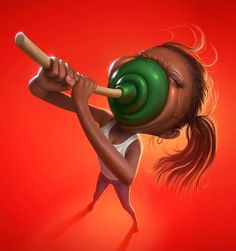 Tiago Hoisel is a Brazilian digital artist specialized in illustration works, the best known are his caricatures. Tiago grows on the coasts of a small town on… Funny Illustration, Character Illustration, Funny Character, Character Design, Things Kids Say, Funny Couples, Funny Girls, Grid Design, Arte Pop