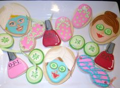 SPA Theme Cookies  The perfect 'pampering' by CookieQueenHawaii, $32.00
