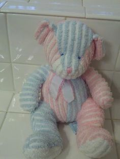 Twiddles Russ Baby Chenille Pink and Blue Baby Infant Rattle Toy Teddy Bear | eBay