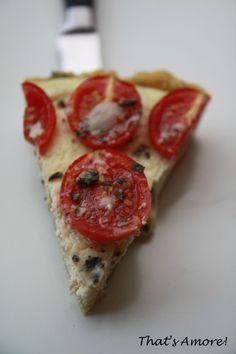 Tarte à la tomate, parmesan & basilic, cheesecake d'olives noires 5