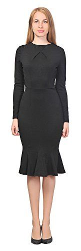 GUESS Womens VNeck Dress Black 0 * See this great product.