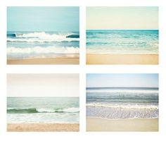 Etsy   Ocean Photography Set  Four Photos seascape sea by CarolynCochrane $170
