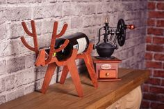 Wine Bottle Holder Deer Home Wine Racks Wine Gift Small by WoodKO