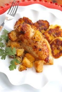 Roasted Pineapple Rum Chicken - (Free Recipe below)