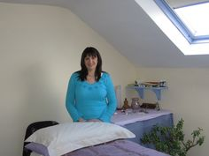Me in my Reiki room in Newport