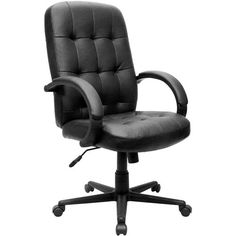 verona series tufted back black leather executive chair this unique office chair is the perfect combination of modern style and traditional elegance - Gray Leather Office Chair