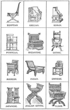 Chairs of different cultures.  Good lesson in style differences.