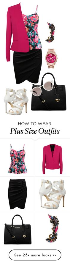 """""""09-07-2015"""" by namiouou on Polyvore featuring Erickson Beamon, Roland Mouret, GUESS, MICHAEL Michael Kors and Illesteva"""