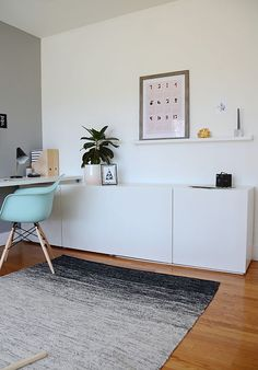 home decor ikea Today, Im sharing my workspace and how I was able to incorporate spots for my kids to work and play in this space right alongside me. Ikea Workspace, Ikea Office, Workspace Design, Home Office Space, Home Office Design, Home Office Decor, Office Spaces, Home Office Inspiration, Workspace Inspiration