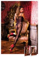 Flower Lace-up Bodystocking