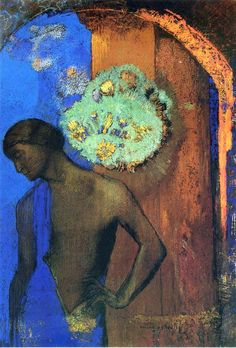 Saint John (The blue tunic), 1892 Odilon Redon